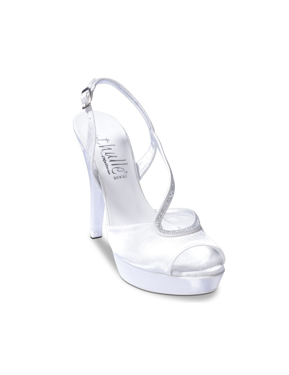 Scarpe Sposa Melluso.Th219 In Thulle By Melluso
